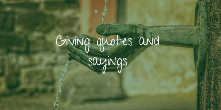 Giving quotes and sayings